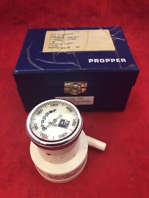 PROPPER Portable Compact Spirometer 0-7 Liters 241001 In Case See Listing