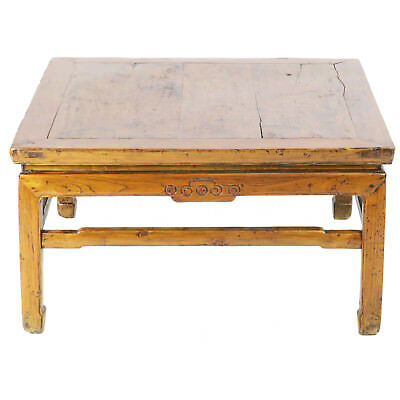"Antique Chinese Coffee Kang Table 34"" Square x 18"" Tall"
