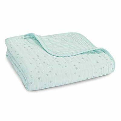 Aden & Anais 4 Layer Dream Blanket Aden and Anais Metallic Skylight Light (Aqua)