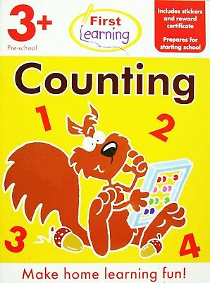 First Learning Counting Book Preschool 3+/ 30 Activity Pages