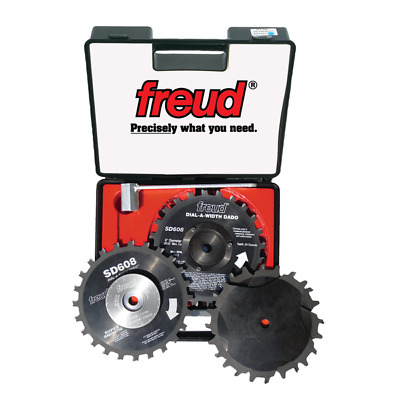 """New Freud Tools Sd608 8"""" Dial-A-Width Stacked Dado Set"""