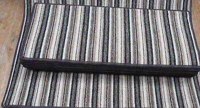 8.5x20.50inches(22x52cm) HARD WEARING BROWN STRIPE  STAIR PADS #2016