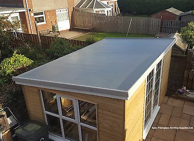 450g  (No Foot traffic) GRP Fibreglass Roofing Kits with Tools Dark Grey Topcoat