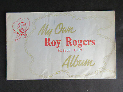 1950 ROY ROGERS Bubble Gum Cards Illustrated Collectors ALBUM Rare