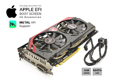  SAPPHIRE R9 280x 3GB GPU For Apple Mac Pro w/EFI, Boot