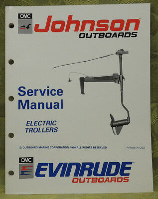 1991 Johnson Outboard Service Repair Manual Electric Trollers