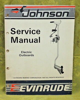 1988 Johnson Outboard Service Repair Manual Electric Outboards Evinrude
