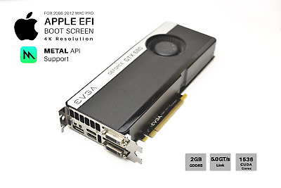  NVIDIA GTX 680 SC-S 2GB Video Card for Apple Mac Pro: CUDA METAL/Mojave  and 4K