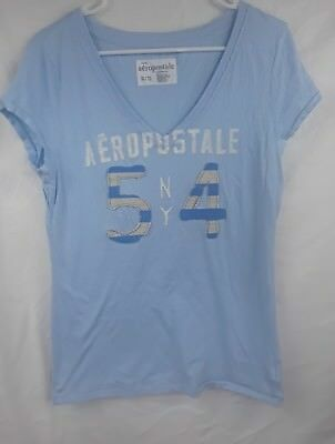 Two Aeropostale XL T-shirts New York Style One is Blue, One is pink and white