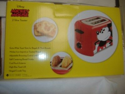 Disney DCM21 Mickey Mouse 2 Slice Toaster, Red/Black
