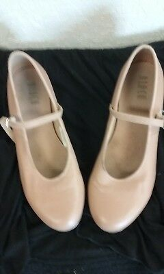 Bloch ladies tan tap shoes so302l size 9