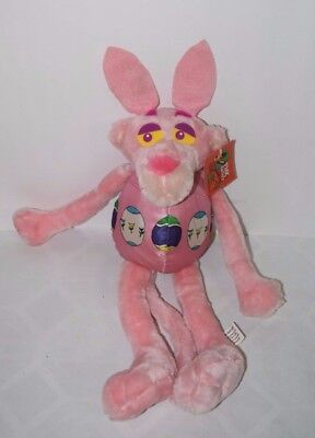 """RARE 17"""" United Artists PINK PANTHER Plush Easter Egg Costume Bunny Ears Tags"""
