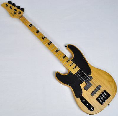 af93bde5fc1 Schecter Model-T Session Left-Handed Electric Bass Guitar in Aged Natural  Finish