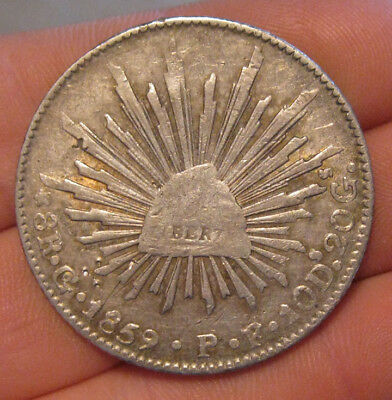 Mexico - 1859 GoPF Large Silver 8 Reales