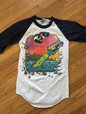 1983 US FESTIVAL SMALL Raglan T-Shirt VINTAGE Concert Fest Fashion NEW OLD STOCK