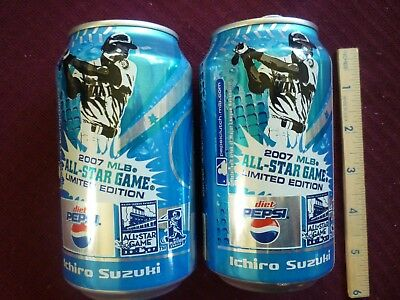 2 - Ichiro #51 Pepsi Alum Cans 2007 Mlb Baseball All-Star Game Le From Japan