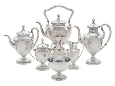 Stunning American Sterling Silver 6-Piece Tea & Coffee Service by S. Kirk & Son