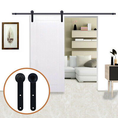Simple Style Sliding Wood Barn Door Hardware Kit for Single Door Closet Track