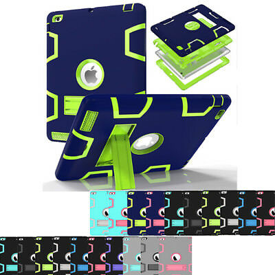 For iPad 9.7 2018 6th Gen A1893 A1954 Shockproof Heavy Duty Case Stand Cover