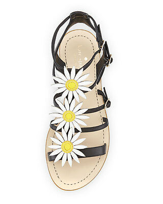 9c6a269aa23 NWOB Kate Spade New York Collin Daisy T-Strap Sandal Flower Black Size 5M