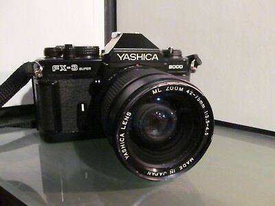 YASHICA FX-3 SUPER SLR 1:3.5-4.5 42-75mm zoom 35mm film Camera Contax mount