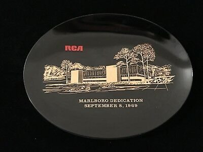 Vintage RCA Collectible Plate Marlboro Dedication 1969