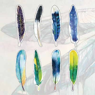 Stationery Design Office Supplies 30pcs/set Plumage Feathers Bookmarks Gift