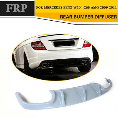 Unpainted FRP Rear Bumper Diffuser Spoiler for Mercedes Benz W204 C63 AMG 08-11