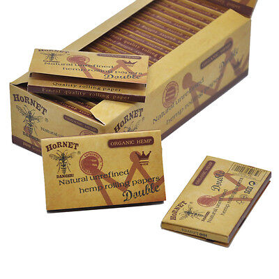 1 Box 70MM Hornet Brown Double Layers Natural Unrefined  Rolling Papers