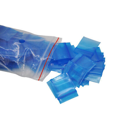 100pcs Plastic 38x55mm Resealable Small Bag Packing Storage Seal Jewelry Ziplock