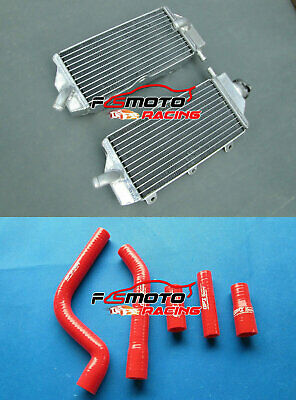 Aluminum Radiator& RED Hose FOR YAMAHA YZF250 YZ250F YZF 250 2010 2011 2012 2013