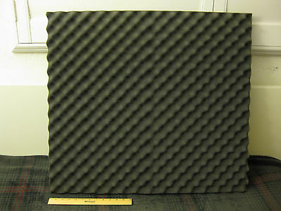 "Large Charcoal Gray Egg Crate Foam Sheet_30"" x 27"" x 2"""