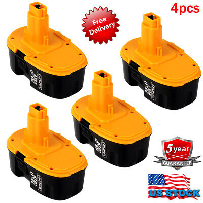 For DeWALT DC9096-2 18Volt XRP Ni-CD Cordless Power Tool New Battery DW9098 4Pcs