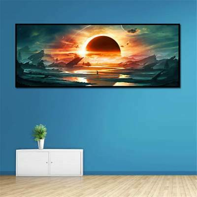 Home Decor Huge Wall Art The Sun Kindled Sky Oil Painting On Canvas Frameless