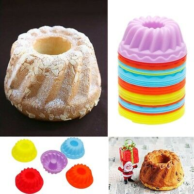 5pcs Cake Muffin Jelly Silicone Pan Mould Mold Cake Decorate Baking Tool