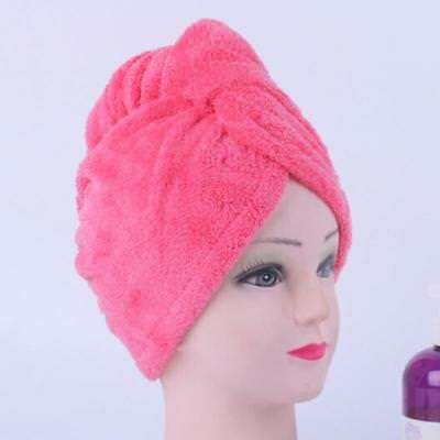 Microfiber Women Bath Quick Dry Hair Magic Drying Turban Wrap Towel Hat Cap N7