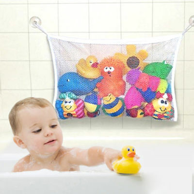 Baby Bathtub Toy Mesh Net Storage Bag Organizer Holder Bathroom Organiser New