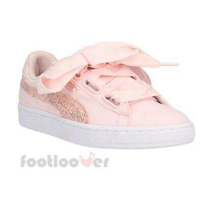 15aa7043d Puma Basket Heart Canvas Wns 366495 02 Womens Shoes Pearl Rose Gold  Sneakers Low