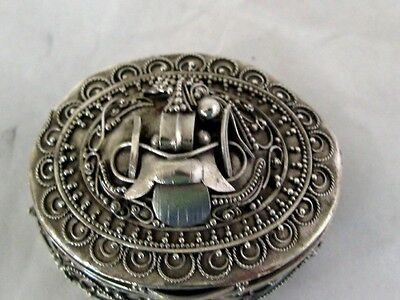 Solid Silver Small Box Asian Extreme Orient