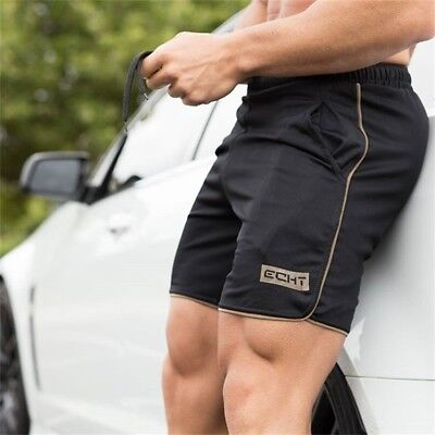 Bodybuilding Men's Sports Training Summer Shorts Workout Fitness GYM