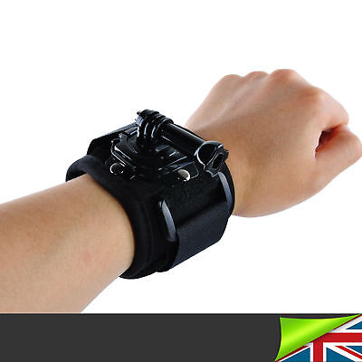 360° Rotation Wrist Strap Hand For Mount Holder GoPro Hero 6 5 4 Accessories UK