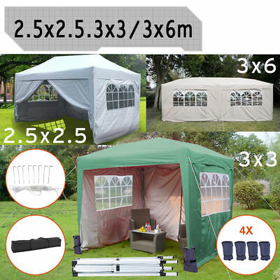 3x6m 2.5x2.5m Pop Garden Gazebo Tent Up Party Canopy Marquee 3x3m