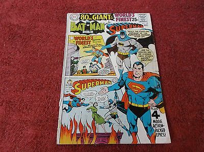 80 PAGE GIANT WORLD'S FINEST # 179 * 1968 * BATMAN & SUPERMAN TEAM-UP's * VG-