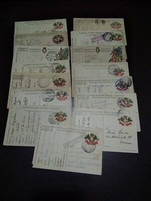 Lotto 15 Cartoline Franchigia WW1 Posta Militare come da foto