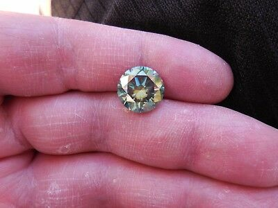 Fiery 5.33 ct Bluish Green Peacock Color Round Loose Moissanite VVS1 11.45 mm