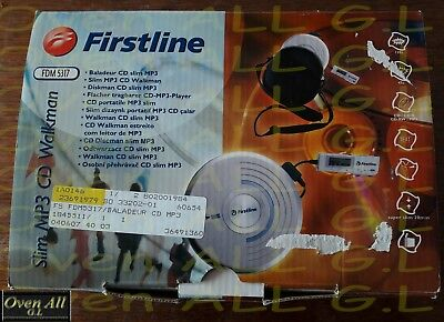lecteur cd/mp3 portable firstline + accesoires (voir photos!!) (etat impecable!)