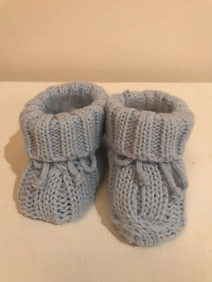 Baby Knitted Boots New Born Boy Beautiful!