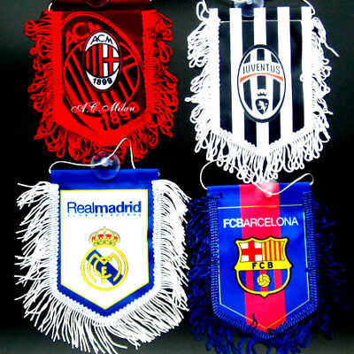 2018 for Real Madrid Barcelona fans sucker Flag  soccer Pennant mini Banner JH