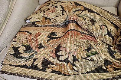 17th Century French Aubusson Tapestry Panel Flowers Scrolling Vines