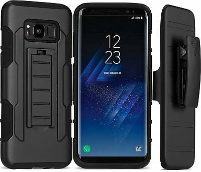 Dual Layer Future Armor Case W/Belt Clip Rugged Cover For Samsung Galaxy S8 Capa